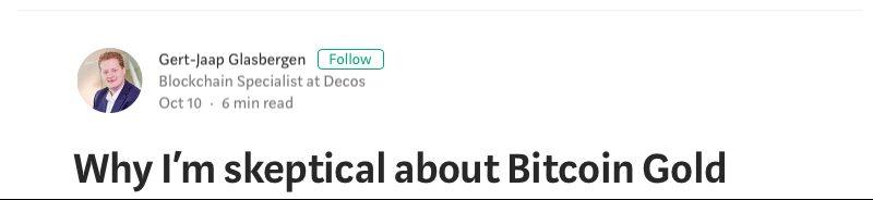 پاسخ پروژه بیت کوین گُلد به انتقادات منفی