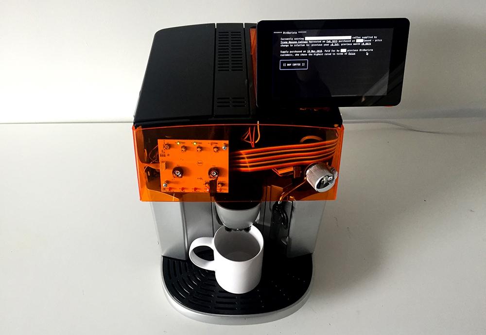اختراع قهوه سازی که با بیت کوین کار میکند