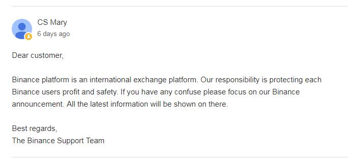 بایننس: حساب کاربران ایرانی را مسدود نخواهیم کرد !