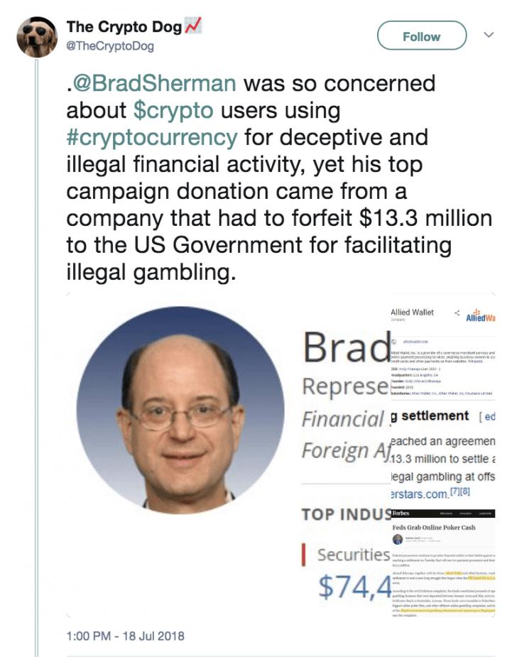 اظهارات نماینده آمریکا درباره ممنوعیت ارزهای دیجیتال جنجال آفرین شد !