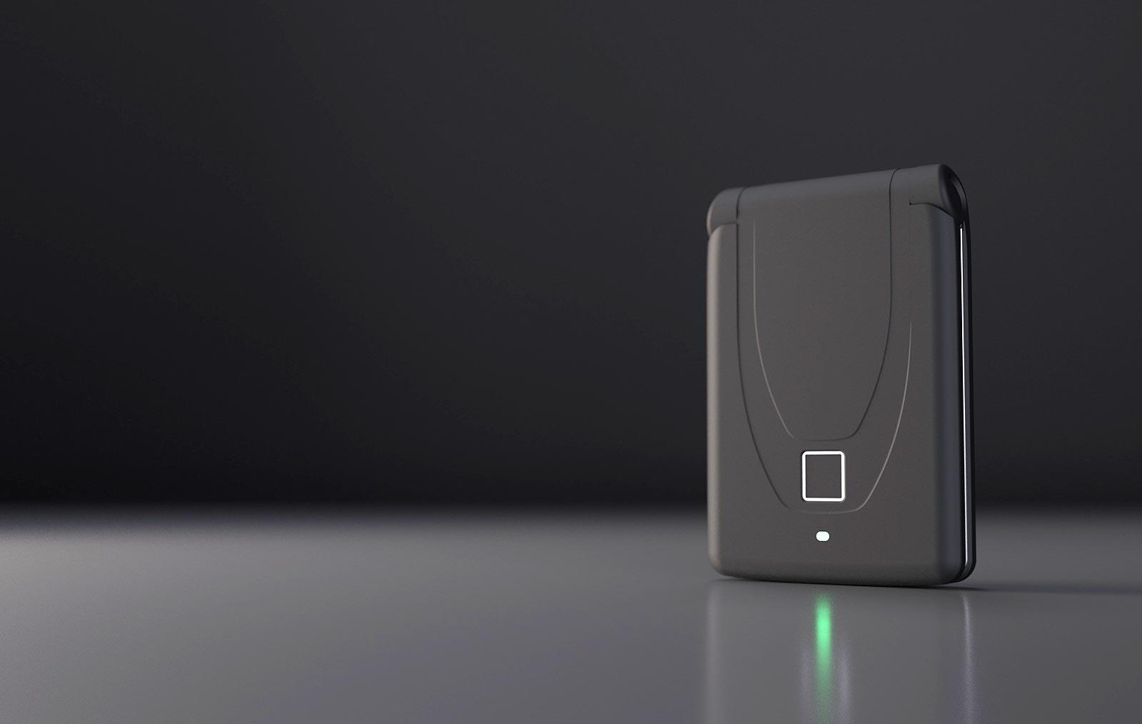 رونمایی از کیف پول سخت افزاری مجهز به حسگر اثر انگشت
