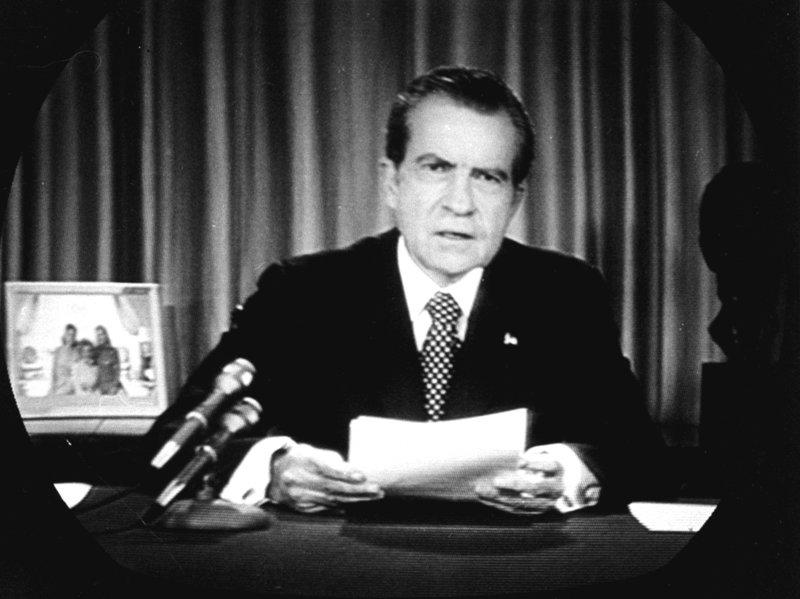 نیکسون، رئیس جمهور وقت آمریکا