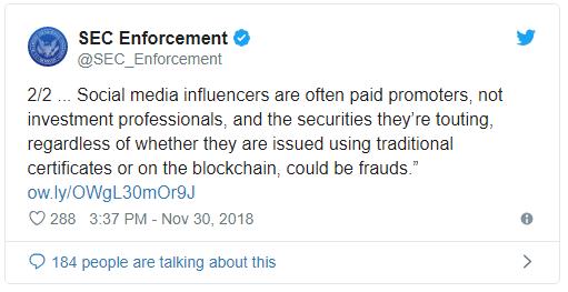 تبلیغکنندگان ICOها مورد مواخذه SEC قرار میگیرند
