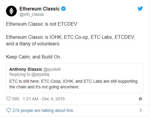 موج سقوط ارزهای دیجیتال بازهم قربانی گرفت/ گروه توسعهدهندهی ETCDEV اتریوم کلاسیک منحل میشود