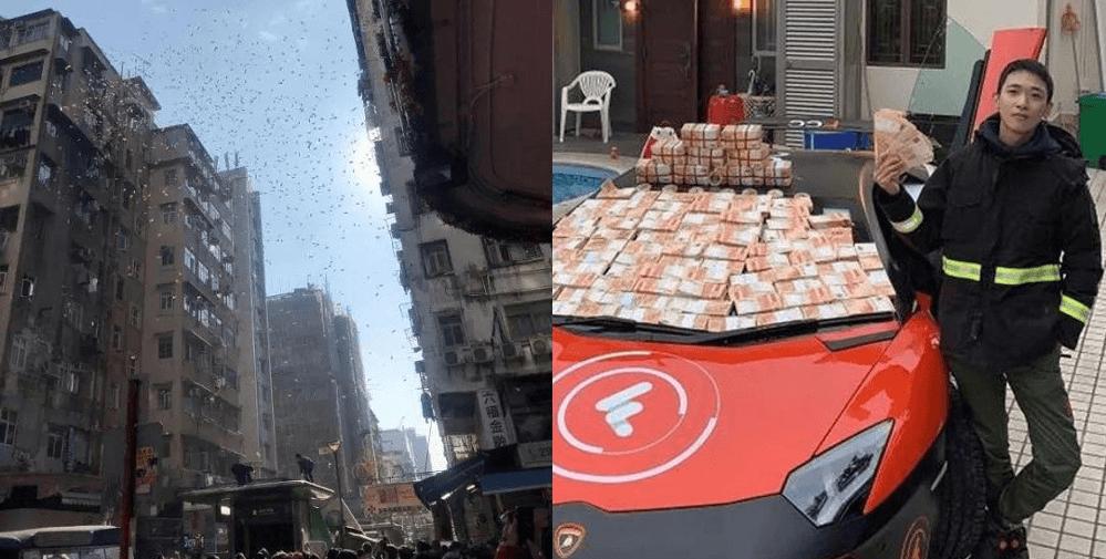 میلیونر هنگکنگی بیت کوین پس از به راه انداختن باران پول از پشت بام دستگیر شد