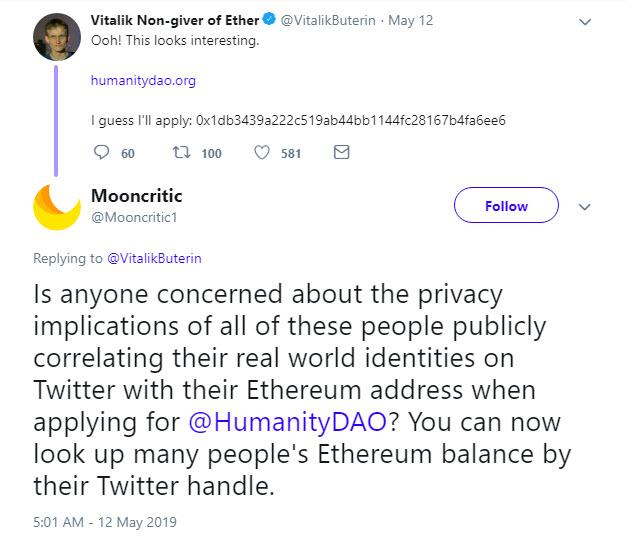 پیشنهاد جدید ویتالیک بوترین برای افزایش حریم خصوصی در اتریوم