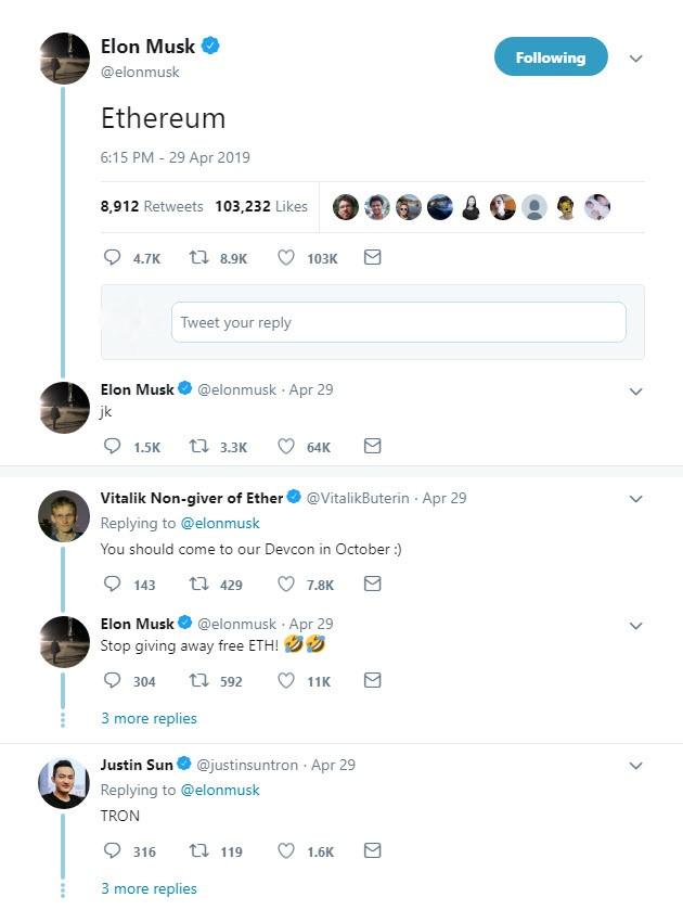 توییت عجیب ایلان ماسک با کلمه «اتریوم»/ ویتالیک بوترین پاسخ داد