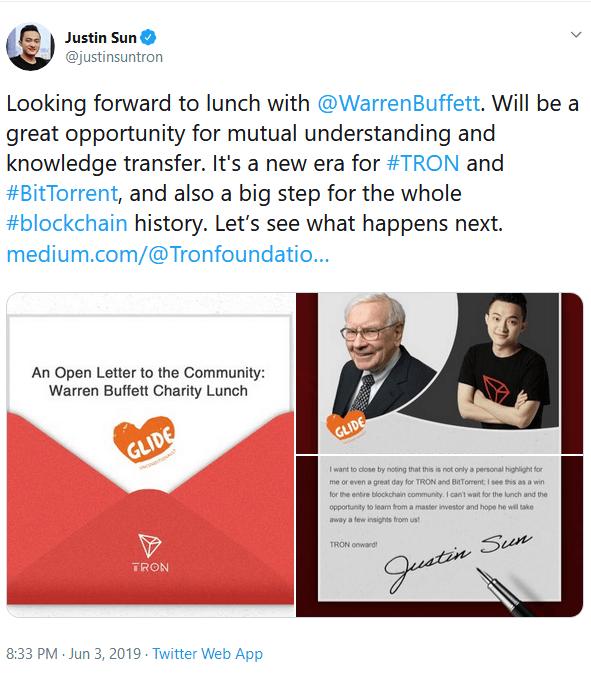ملاقات خالق ترون با وارن بافت/ ناهاری که برای جاستین سان 4.57 میلیون دلار هزینه داشت !