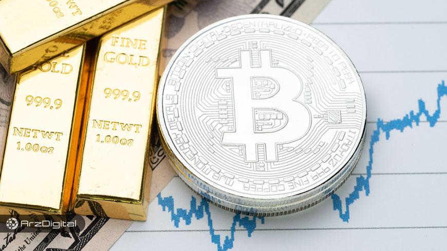 شباهت عجیب حرکات قیمت بیت کوین با طلا