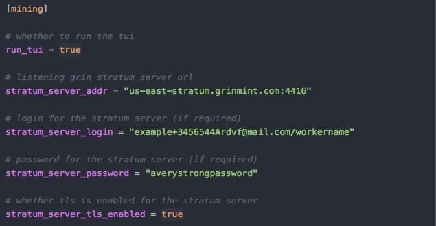 استخراج گرین با لینوکس - تغییرات پیکربندی اعمال شده در نرم افزار