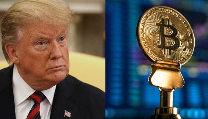 اظهارات ترامپ سبب شد تا قیمت بیت کوین به زیر 10 هزار دلار سقوط کند.