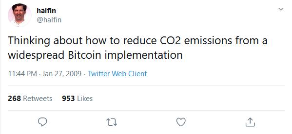 توییت هال فینی درباره کاهش آلایندههای CO2 ناشی از استخراج بیت کوین