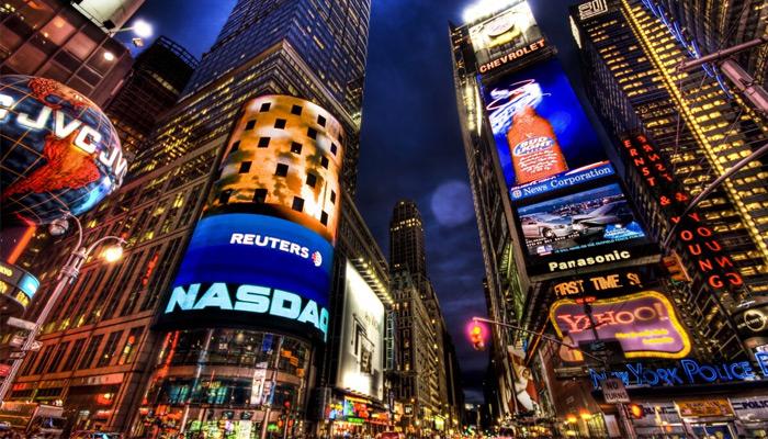 تبلیغات در میدان تایمز نیویورک