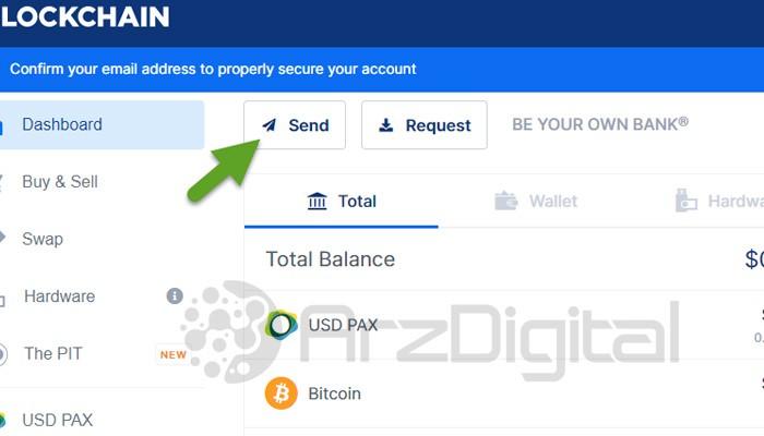 ارسال ارز دیجیتال در کیف پول بلاک چین 1
