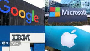 غولهای فناوری در دنیای بلاک چین: مقایسهی آیبیام، مایکروسافت، اپل، گوگل و سایر شرکتها