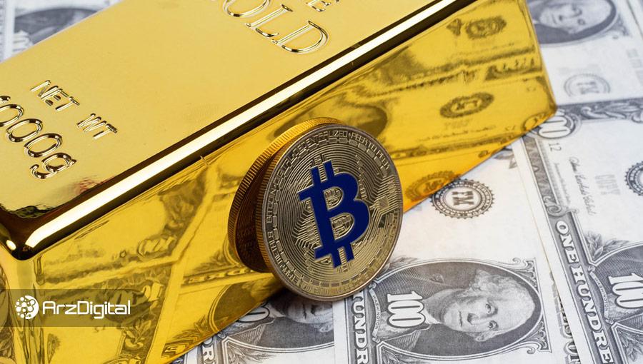 سقوط قیمت بیت کوین و طلا همزمان با رشد شاخص دلار