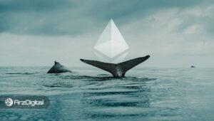 افزایش شدید نهنگهای اتریوم همزمان با کاهش قیمت این ارز دیجیتال