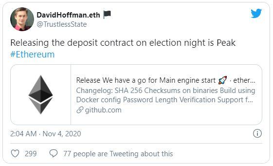 غیر رسمی/ قرارداد سپرده (deposit contract) اتریوم ۲.۰ راهاندازی شد