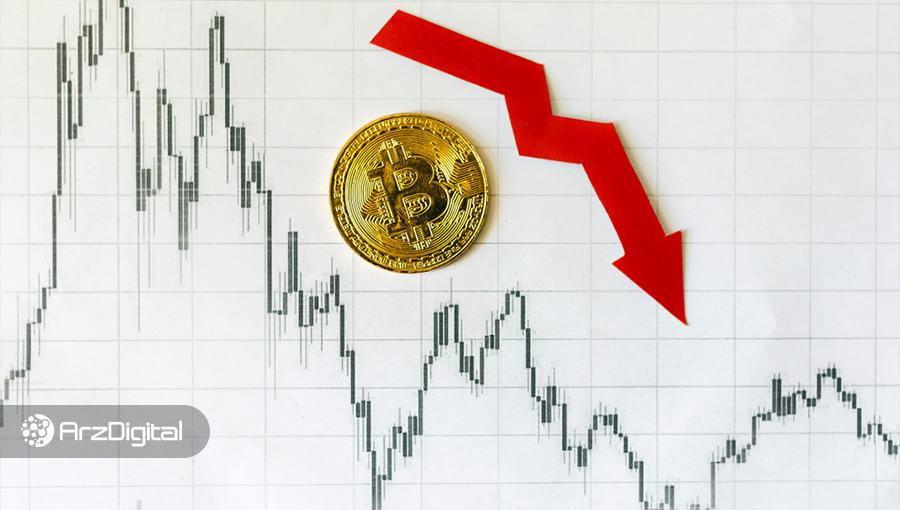 قیمت بیت کوین بیش از ۱۰۰۰ دلار سقوط کرد
