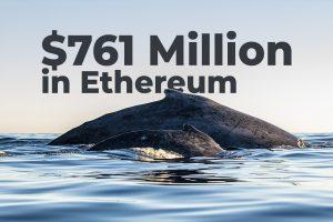 نهنگهای ناشناس ۷۶۱ میلیون دلار اتریوم را در ۲۴ ساعت اخیر جابجا کردهاند